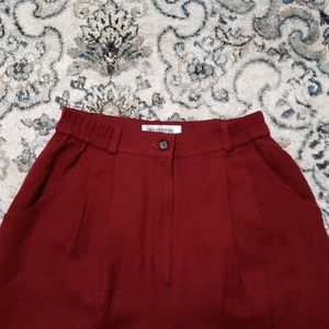 Vintage Maroon Tailored Trousers